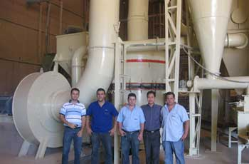 Gypsum Raymond Mill in Iran